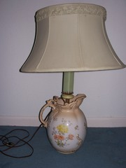 Lamp with agate and pitcher Base Antique  $225.00