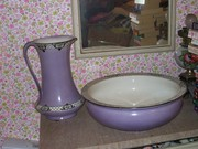 Bowl And Pitcher Very Large Antique $125.00